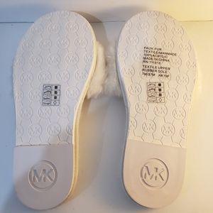 Michael kors mk fur thong slipper slides (7)